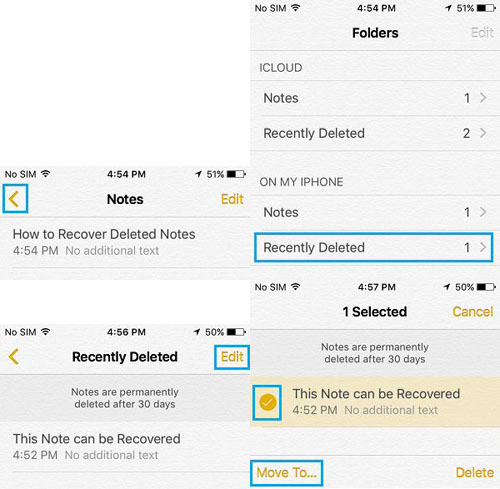 retrieve deleted iPhone notes steps